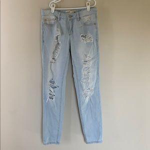 Garage Distressed Boyfriend Jeans